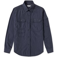 Engineered Garments Explorer Shirt Jacket Blue