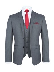 Lambretta Men's Slim Fit Three Piece Suit Grey