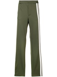 Valentino Side Stripe Track Pants Green