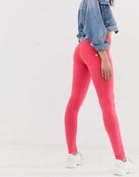 Freddy Wr.Up Shaping Effect Mid Rise Leather Skinny Jean Orange