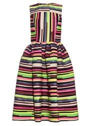 House Of Holland Stephanie Woven Stripe Sleeveless Dress