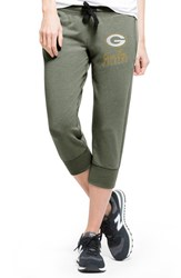 Junior Women's 47 Brand 'Green Bay Packers Stride' Logo Capri Sweatpants