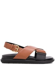 Marni Cross Strap Fussbett Sandals 60