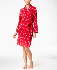 Charter Club Printed Short Robe Only At Macy's Snowflakes