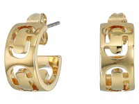 Marc Jacobs Icon Cut Out Small Hoop Earrings Gold Earring