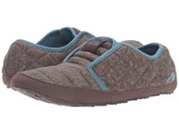 The North Face Thermoball Traction Mule Ii Tweed Print Tapestry Blue Women's Slippers Brown