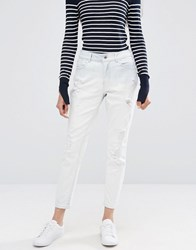 Only Destructed Boyfriend Jeans White