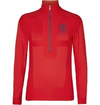 Bogner Buddy Panelled Half Zip Mid Layer Jersey Red