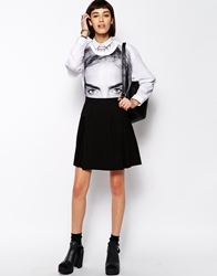 Eleven Paris Fales Kilt Skirt With Pleats Black