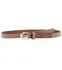 Fausto Colato Studded Leather Belt Brown
