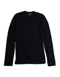 Calvin Klein Long Sleeved Crewneck T Shirt Black