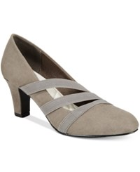 Easy Street Shoes Camillo Pumps Women's Grey Suede