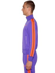 Palm Angels Printed Tech Jersey Track Jacket Purple Orange