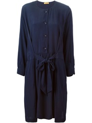 Peter Jensen Belted Shirt Dress Blue