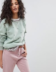 Maison Scotch Basic Sweatshirt With Anchors Combo A Green
