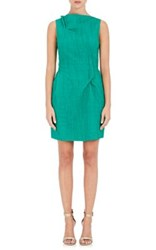 Roland Mouret Women's Cotton Silk Sheath Dress Green Size 6 Us