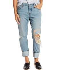 Levi's 501 Ct Customized Tapered Boyfriend Jeans Halfmoon