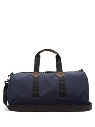 Polo Ralph Lauren Mountain Leather Trimmed Holdall Navy