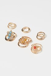 Handm H M 14 Pack Rings Gold