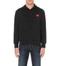 Comme Des Garcons Play Heart Logo Jersey Hoody Black