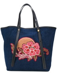 See By Chloe Patch Tote Bag Women Cotton Polyester Polyurethane One Size Blue