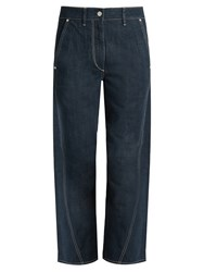 Christophe Lemaire Twisted Straight Leg Cropped Jeans Denim