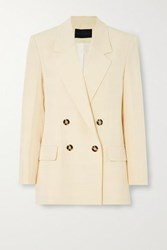 Proenza Schouler Double Breasted Woven Blazer Yellow