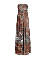 Manila Grace Dresses Long Dresses Women Brown
