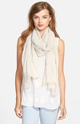 Women's Nordstrom Cashmere And Silk Wrap Ivory