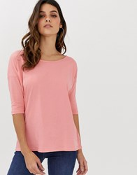 G Star Core 3 4 Sleeve T Pink