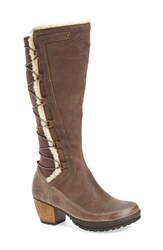 Jambu Women's 'Alberta' Faux Shearling Lined Knee High Boot Warm Grey Leather