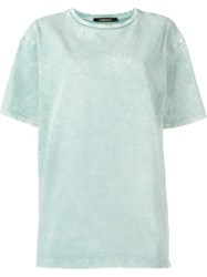 Roberto Cavalli Acid Wash T Shirt Green