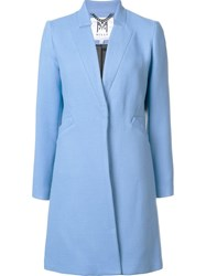 Milly Single Breasted Coat Blue