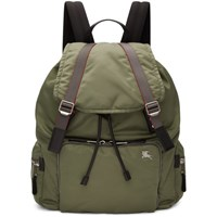 Burberry Green Xl Aviator Backpack