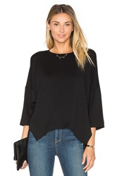 Heather French Terry Wedge Pullover Black