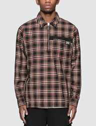 Burberry Check Wool Shirt Multicolor