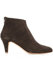 Common Projects Zipped Ankle Boots Brown