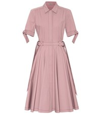 Bottega Veneta Pleated Cotton Dress Pink