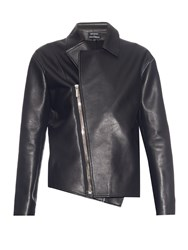 Anthony Vaccarello Asymmetric Leather Jacket