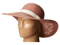 Bcbgeneration Sun Please Exclamation Floppy Faded Rose Caps Pink