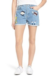 Women's Paul And Joe Sister 'Looney' Patch Denim Shorts