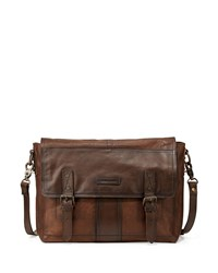 Frye Trevor Men's Leather Messenger Bag Taupe Brown
