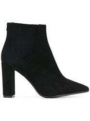 Htc Hollywood Trading Company Pointed Ankle Boots Leather Black