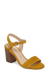 Sole Society Women's 'Linny' Ankle Strap Sandal Mustard Suede