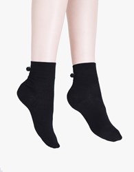 Hansel From Basel Pom Pom Trouser Crew Sock Black