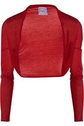 Herve Leger Fine Knit Silk Shrug Red