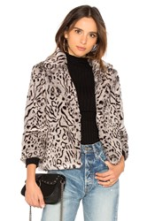 Cupcakes And Cashmere Belle Faux Fur Jacket Gray