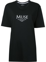 Premier Amour Muse Boyfriend T Shirt Women Cotton M Black