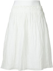Vanessa Bruno Crinkle Skirt White