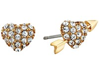 Kate Spade Be Mine Heart And Arrow Studs Clear Gold Earring
